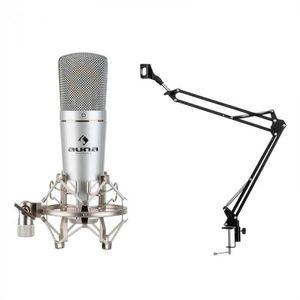 Auna MIC-920, USB, mikrofónový set, V3, kondenzátorový mikrofón, otočné rameno, ochranná taška vyobraziť