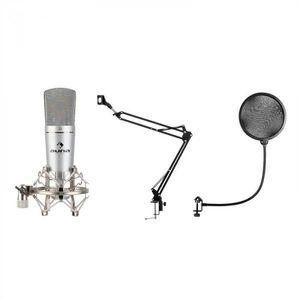 Auna MIC-920, USB, mikrofónový set, V4, mikrofón, otočné rameno, POP filter, ochranná taška vyobraziť