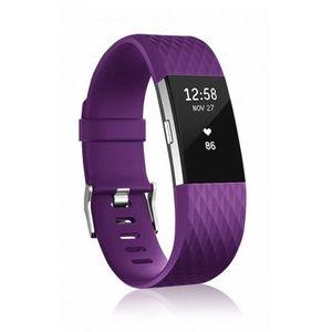 Fitbit Charge 2 Silicone Diamond (Large) remienok, Purple vyobraziť