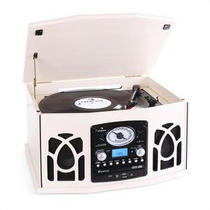 Auna NR-620, stereo zariadenie, gramofón, krémové, MP3 vyobraziť