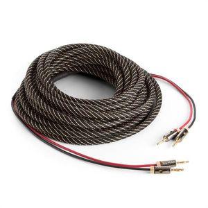 Numan reproduktorový kábel, OFC, medený, 2 x 3, 5 mm², 10 m, textilný obal, štandardizovaný vyobraziť