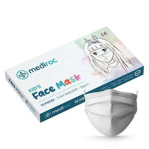 Mediroc STL3PLYKIDS detské rúško 3 vrstvové 10ks biele - MEDICAL EU distribúcia vyobraziť