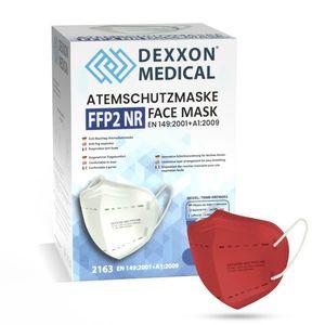 DEXXON MEDICAL Respirátor FFP2 NR červený 1ks/bal vyobraziť