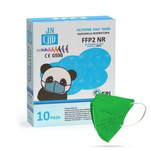Jinhuan JN001 detský respirátor FFP2 NR zelený 10ks/bal vyobraziť