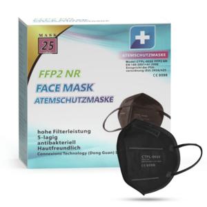 MundoSalud CTPL-0020 Respirátor FFP2 NR Black 10ks/bal vyobraziť