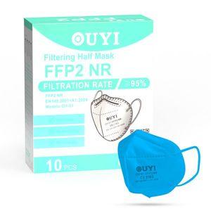 UYI OY-01 Respirátor FFP2 NR azurový 10ks/bal vyobraziť