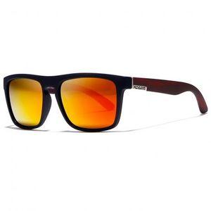 KDEAM Sunbury 12 slnečné okuliare, Black / Wood Red vyobraziť
