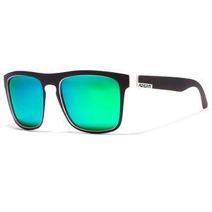 KDEAM Sunbury 19 slnečné okuliare, Black & White / Green vyobraziť