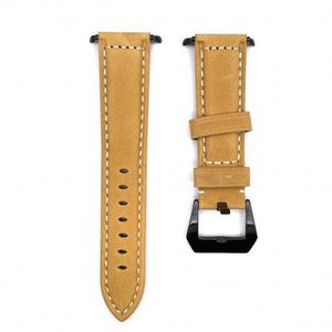 Apple Watch 42/44mm Leather Lux remienok, black/brown (SAP011C06) vyobraziť