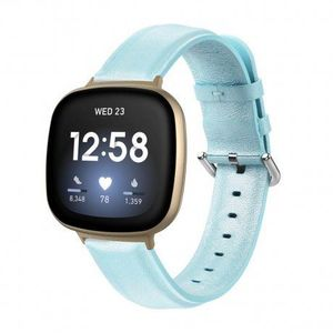 Fitbit Versa 3 Leather Lux remienok, light blue (SFI012C05) vyobraziť