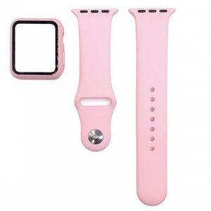 Apple Watch 38mm Silicone remienok s puzdrom, pink (SAP012C03) vyobraziť