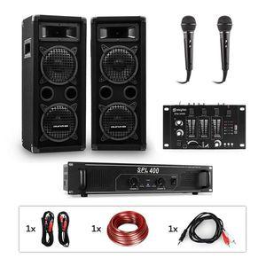 Auna Pro PW-65x22 MKII, PA karaoke sada, zosilňovač, 2 pasívne PA reproduktory, mixér, 2 mikrofóny vyobraziť