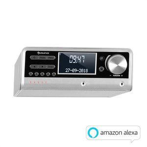 Auna Intelligence DAB+, kuchynské rádio, hlasové ovládanie Alexa, Spotify, bluetooth, strieborné vyobraziť