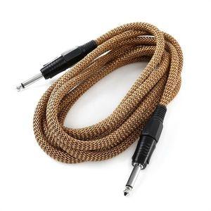 FrontStage 6, 35mm jack kábel, 3 m, čierno-zlatá, sada troch káblov, textilná izolácia vyobraziť