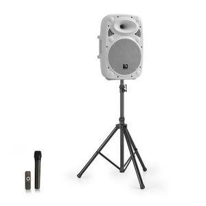 """Auna Streetstar 10, mobilný PA systém + statív, 10"""" woofer, UHF mikrofón, 400 W max., biely vyobraziť"""