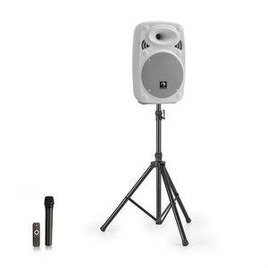 """Auna Streetstar 8, mobilný PA systém + statív, 8"""" woofer, UHF mikrofón, 200 W max., biely vyobraziť"""