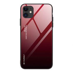 MG Gradient Glass plastový kryt na iPhone 12 mini, čierny/červený vyobraziť