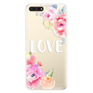 Silikónové puzdro iSaprio - Love - Huawei Honor 7A vyobraziť