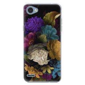 Plastové puzdro iSaprio - Dark Flowers - LG Q6 vyobraziť