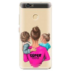 Plastové puzdro iSaprio - Super Mama - Boy and Girl - Huawei Nova vyobraziť