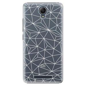 Plastové puzdro iSaprio - Abstract Triangles 03 - white - Xiaomi Redmi Note 2 vyobraziť