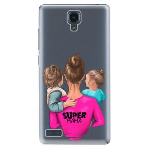 Plastové puzdro iSaprio - Super Mama - Boy and Girl - Xiaomi Redmi Note vyobraziť