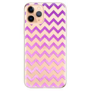 Odolné silikónové puzdro iSaprio - Zigzag - purple - iPhone 11 vyobraziť