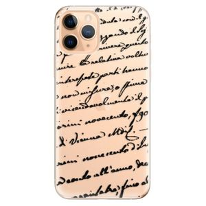 Odolné silikónové puzdro iSaprio - Handwriting 01 - black - iPhone 11 vyobraziť
