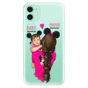 Odolné silikónové puzdro iSaprio - Mama Mouse Brunette and Girl - iPhone 11 vyobraziť