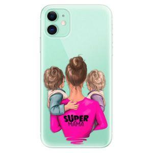 Odolné silikónové puzdro iSaprio - Super Mama - Two Boys - iPhone 11 vyobraziť