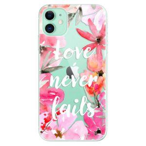 Odolné silikónové puzdro iSaprio - Love Never Fails - iPhone 11 vyobraziť