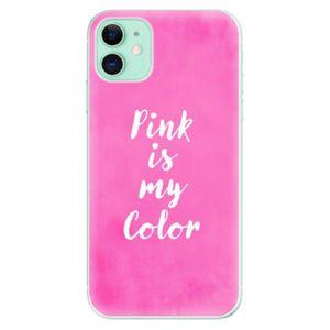 Odolné silikónové puzdro iSaprio - Pink is my color - iPhone 11 vyobraziť