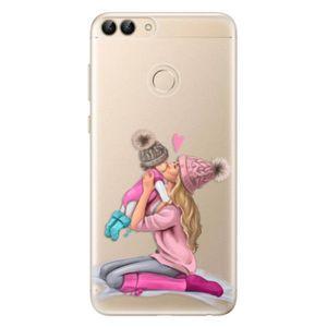 Odolné silikónové puzdro iSaprio - Kissing Mom - Blond and Girl - Huawei P Smart vyobraziť