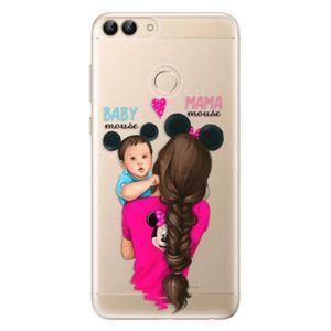Odolné silikónové puzdro iSaprio - Mama Mouse Brunette and Boy - Huawei P Smart vyobraziť