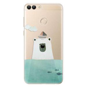 Odolné silikónové puzdro iSaprio - Bear With Boat - Huawei P Smart vyobraziť
