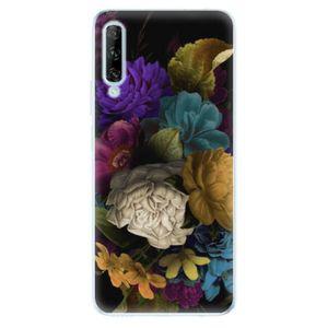 Odolné silikónové puzdro iSaprio - Dark Flowers - Huawei P Smart vyobraziť