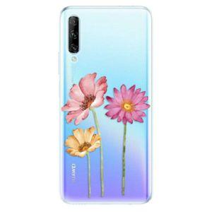 Odolné silikónové puzdro iSaprio - Three Flowers - Huawei P Smart vyobraziť
