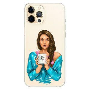 Odolné silikónové puzdro iSaprio - Coffe Now - Brunette - iPhone 12 vyobraziť