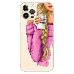 Odolné silikónové puzdro iSaprio - My Coffe and Blond Girl - iPhone 12 vyobraziť