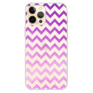 Odolné silikónové puzdro iSaprio - Zigzag - purple - iPhone 12 vyobraziť