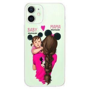 Odolné silikónové puzdro iSaprio - Mama Mouse Brunette and Girl - iPhone 12 vyobraziť