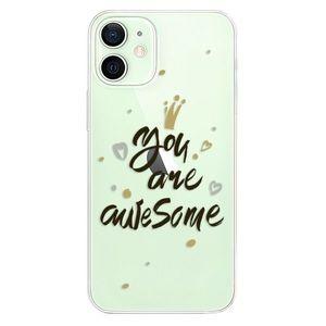 Odolné silikónové puzdro iSaprio - You Are Awesome - black - iPhone 12 vyobraziť