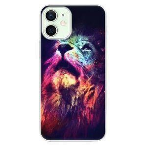 Odolné silikónové puzdro iSaprio - Lion in Colors - iPhone 12 vyobraziť