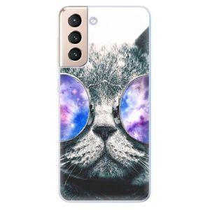 Odolné silikónové puzdro iSaprio - Galaxy Cat - Samsung Galaxy S21 vyobraziť