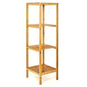 Blumfeldt Regál, viacúčelový regál, 4 úrovne, 34 × 110 × 33 cm (Š × V × H), kombinovateľný, bambus vyobraziť