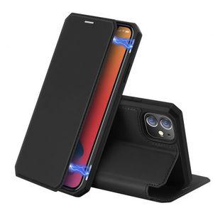 DUX DUCIS Skin Pro knižkové kožené puzdro na iPhone 12 / 12 Pro, čierne vyobraziť