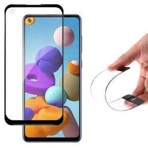 MG Full Cover Flexi Nano Hybrid ochranné sklo na Samsung Galaxy A21S, čierne vyobraziť