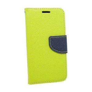 Puzdro Fancy Book Motorola G9 Power - modro limetkové vyobraziť