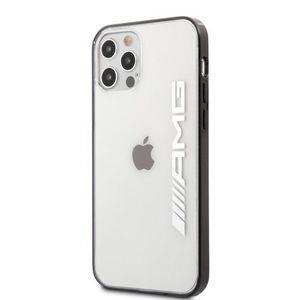 AMHCP12MAESLBK AMG Metallic Black Edges Kryt pro iPhone 12/12 Pro 6.1 Transparent vyobraziť
