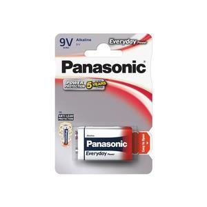 Batéria 6F22 (9V) alkalická PANASONIC Everyday Power 6LR61 1BP vyobraziť